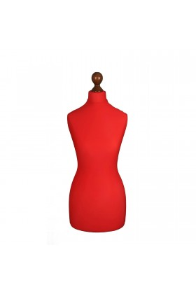 Female Tailor's Dummy Torso Size 6/8 Red