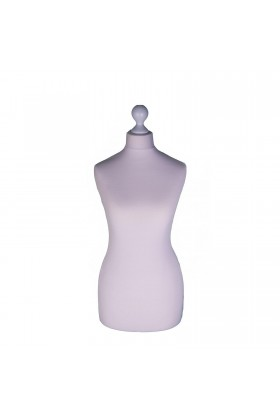 Female Tailor's Dummy Torso Size 8/10 Silver