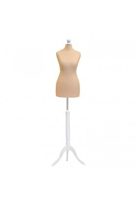 Deluxe Female Tailor's Dummy Size 10/12 Cream