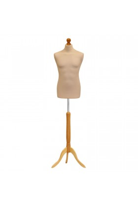 Deluxe Male Tailors Dummy Size Medium 39/41 Cream