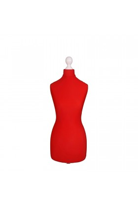 Female Tailor's Dummy Torso Size 8/10 Red