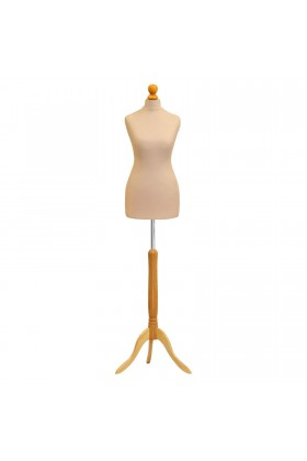 Deluxe Female Tailor's Dummy Size 6/8 Cream