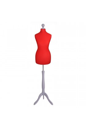 Deluxe Female Tailor's Dummy Size 12/14 Red