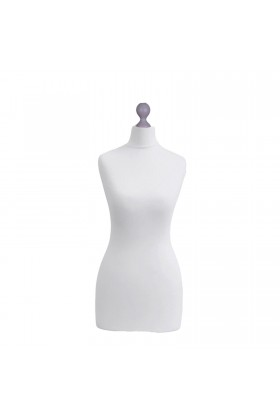 Female Tailor's Dummy Torso Size 12/14 White