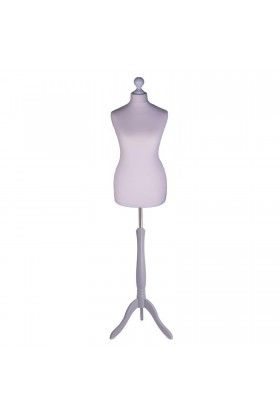 Size 10/12 Female Tailors Dummy Silver
