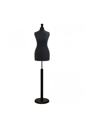 Size 10/12 Female Tailors Dummy Black