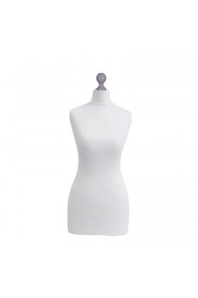 Female Tailor's Dummy Torso Size 16/18 White