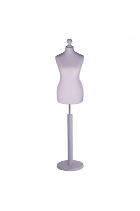 Female Tailor's Dummy Size 6/8 Silver