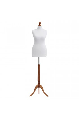 Deluxe Female Tailor's Dummy Size 6/8 White