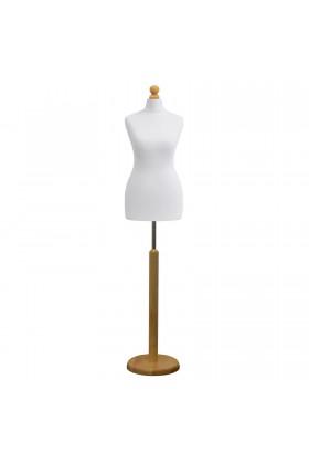 Female Tailor's Dummy Size 6/8 White