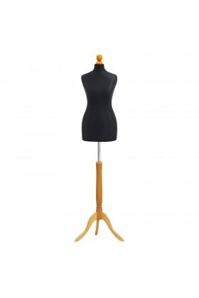Deluxe Female Tailor's Dummy Size 6/8 Black