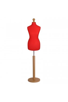 Female Tailor's Dummy Size 12/14 Red