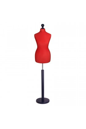 Deluxe Female Tailor's Dummy Size 6/8 Red