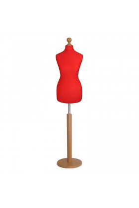 Female Tailor's Dummy Size 6/8 Red
